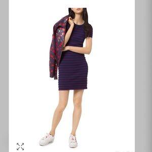 Michael Kors striped scalopped mini dress